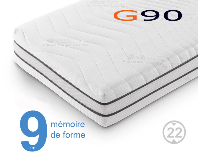 matelas m moire de forme g90 matelas sensog. Black Bedroom Furniture Sets. Home Design Ideas