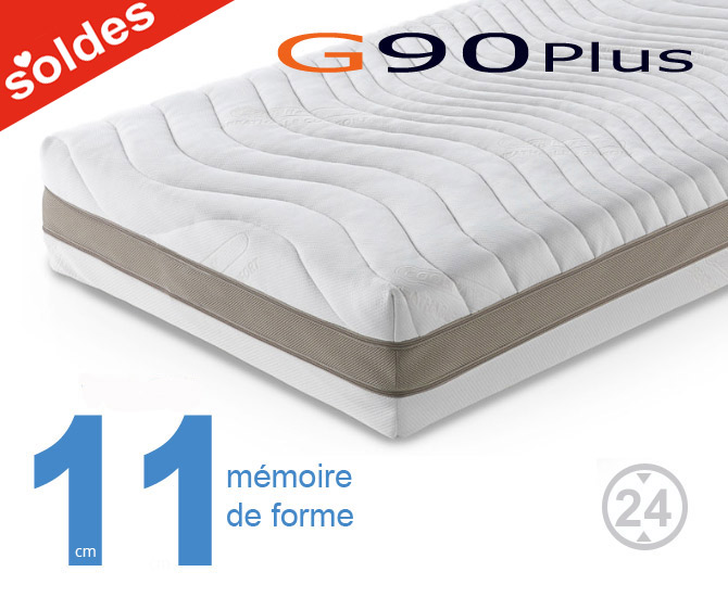 matelas m moire de forme g90 plus matelas sensog. Black Bedroom Furniture Sets. Home Design Ideas