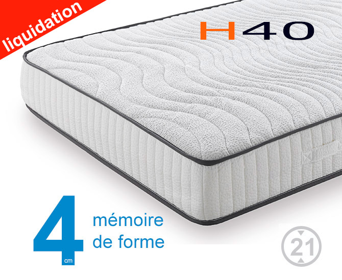 matelas m moire de forme h40 matelas sensog. Black Bedroom Furniture Sets. Home Design Ideas