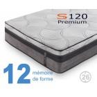 Matelas à mémoire de forme S120 Premium